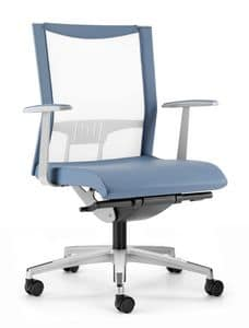 AVIANET 3602, Chair with back in elastic mesh, for office