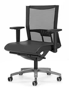 AVIANET 3606, Work chair with T shaped armrests, for office