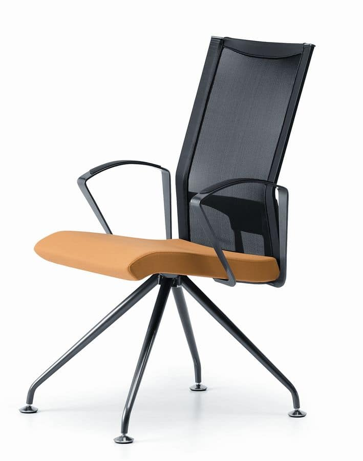 AVIANET 3649, Chair with metal base, with armrests, for office