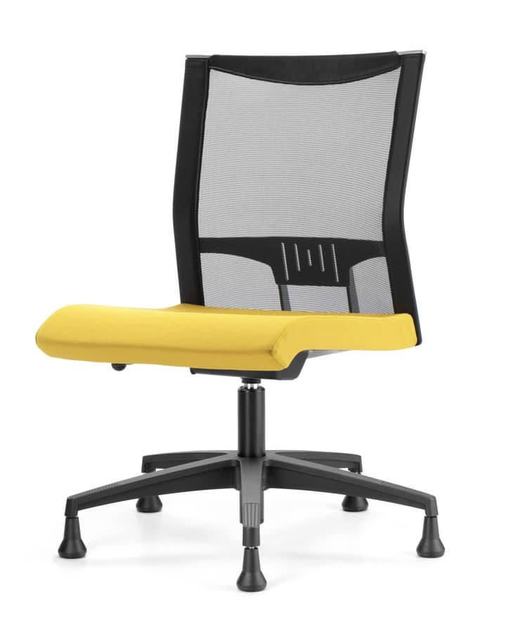 AVIANET 3650, Chair with feet, with mesh back, for modern office