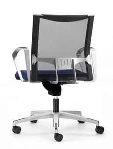 AVIANET 3654, Operational office chair, with wheels and mesh backrest