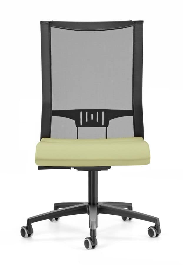 AVIANET 3660, Task chair, mesh backrest with lumbar support