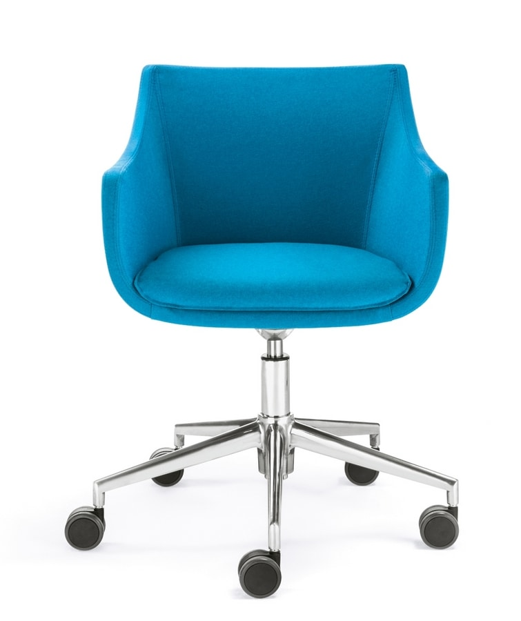 Day&Night Plus, Upholstered armchair on wheels
