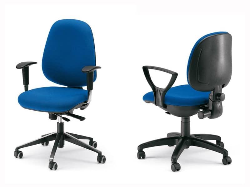 Dublino, Operational ergonomic chair, interior plywood shell