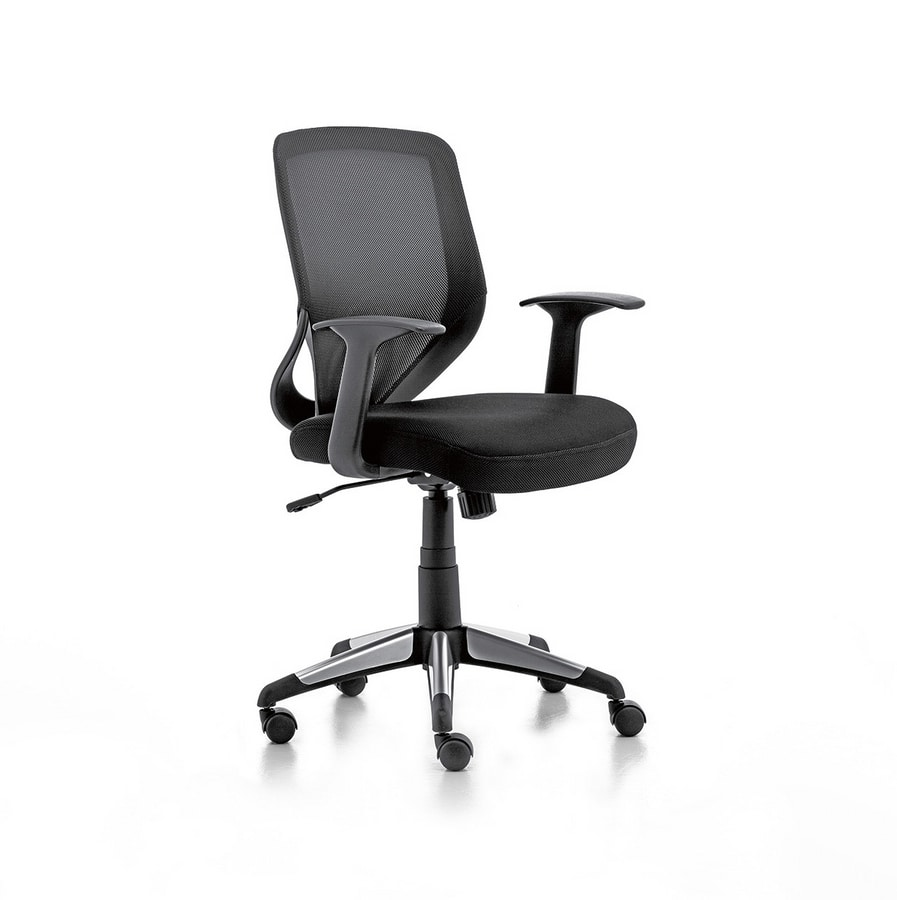 Eliot 01, Operative chair with net back, for office