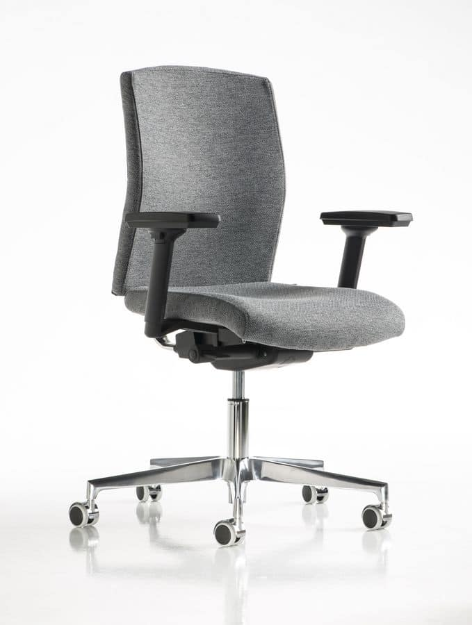 Fit, Office chair, adjustable armrests, metal inserts