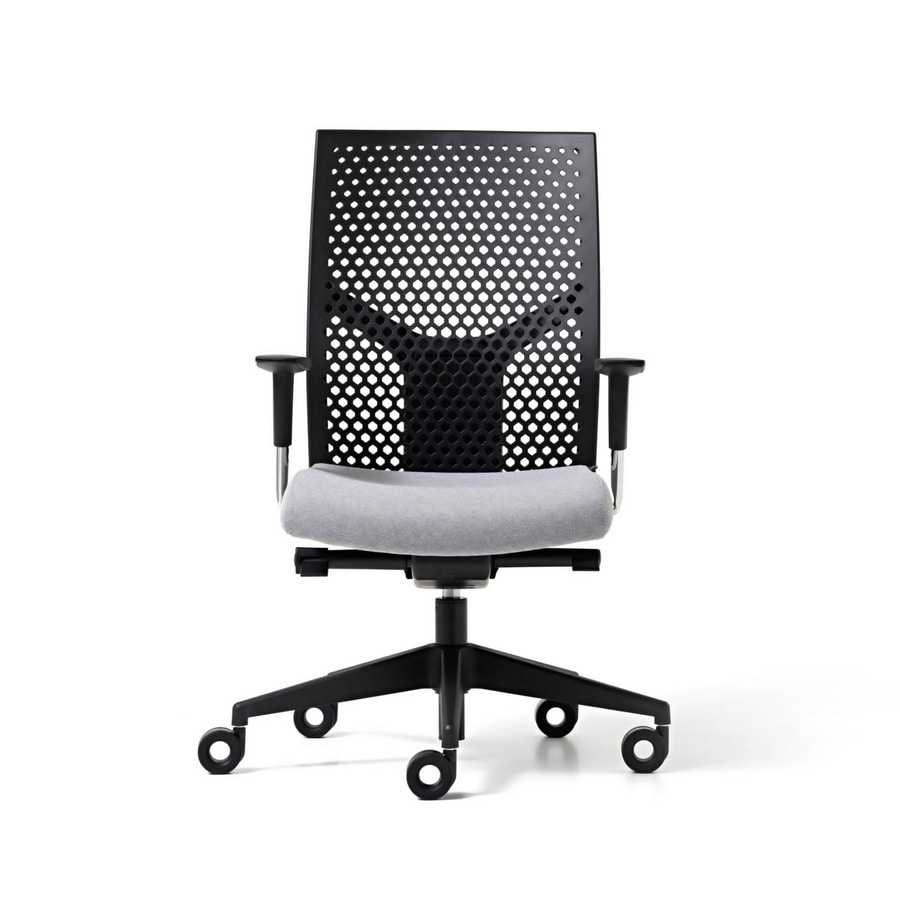 Fit Poly Office Chair With Backrest In Polypropylene Adjule