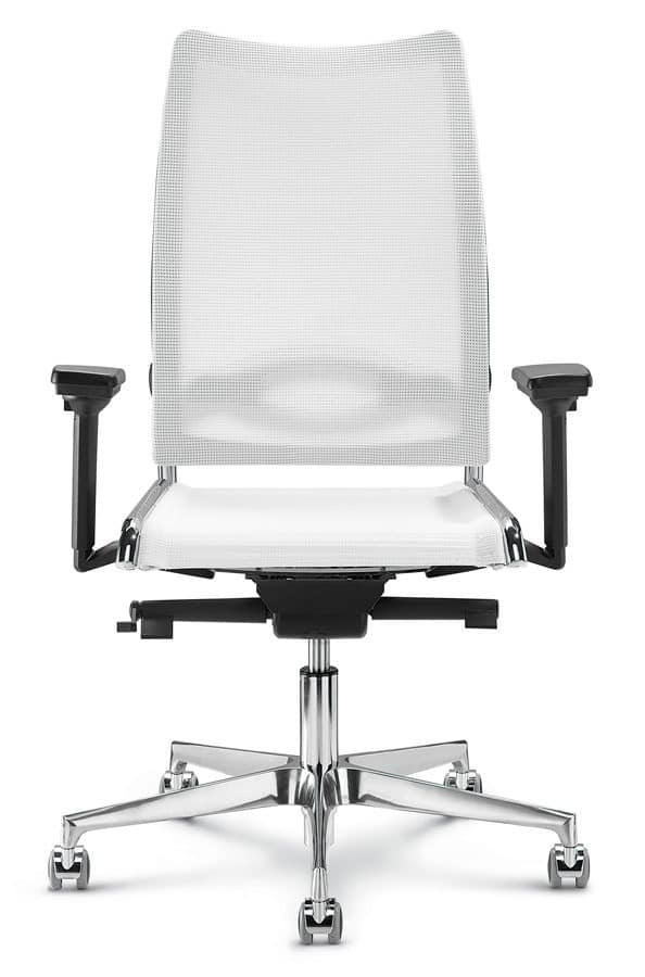 Flash, Office chair with high back with ergonomic net