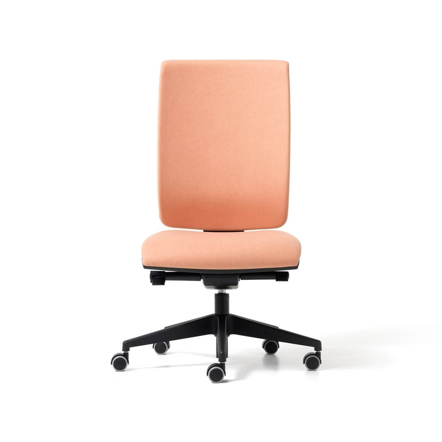 Goal upholstered, Chair with headrest for office, shifter mechanism