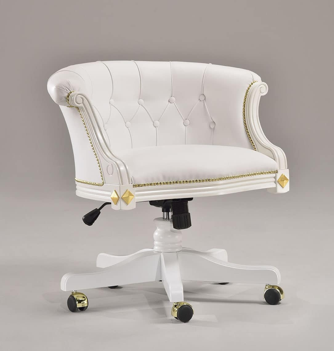 HILTON office armchair 8664A, Office chair in classic style, with elegant decorations