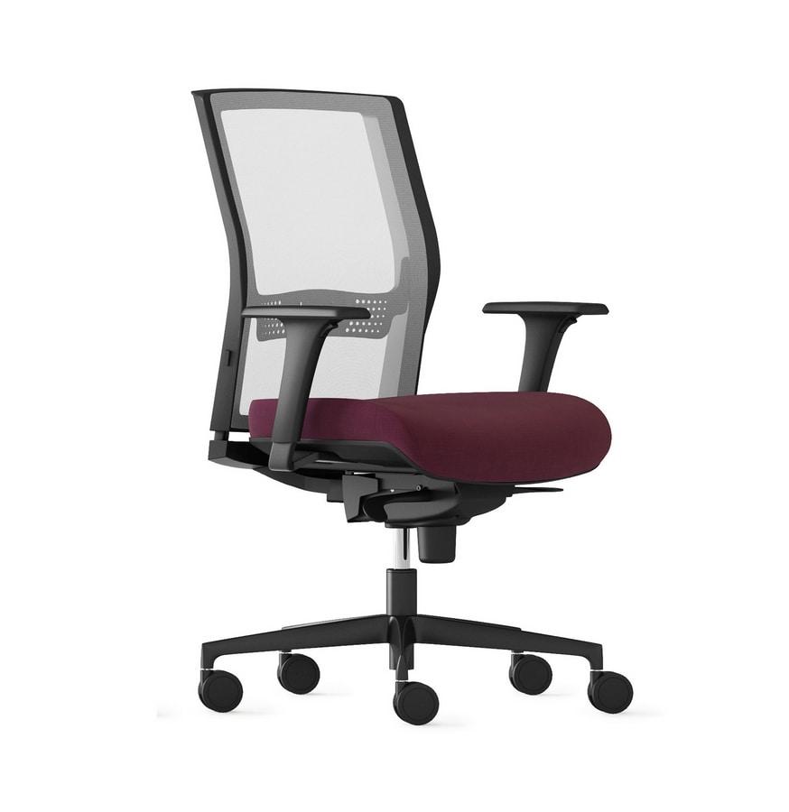 JEX, Task chair for office, mesh backrest