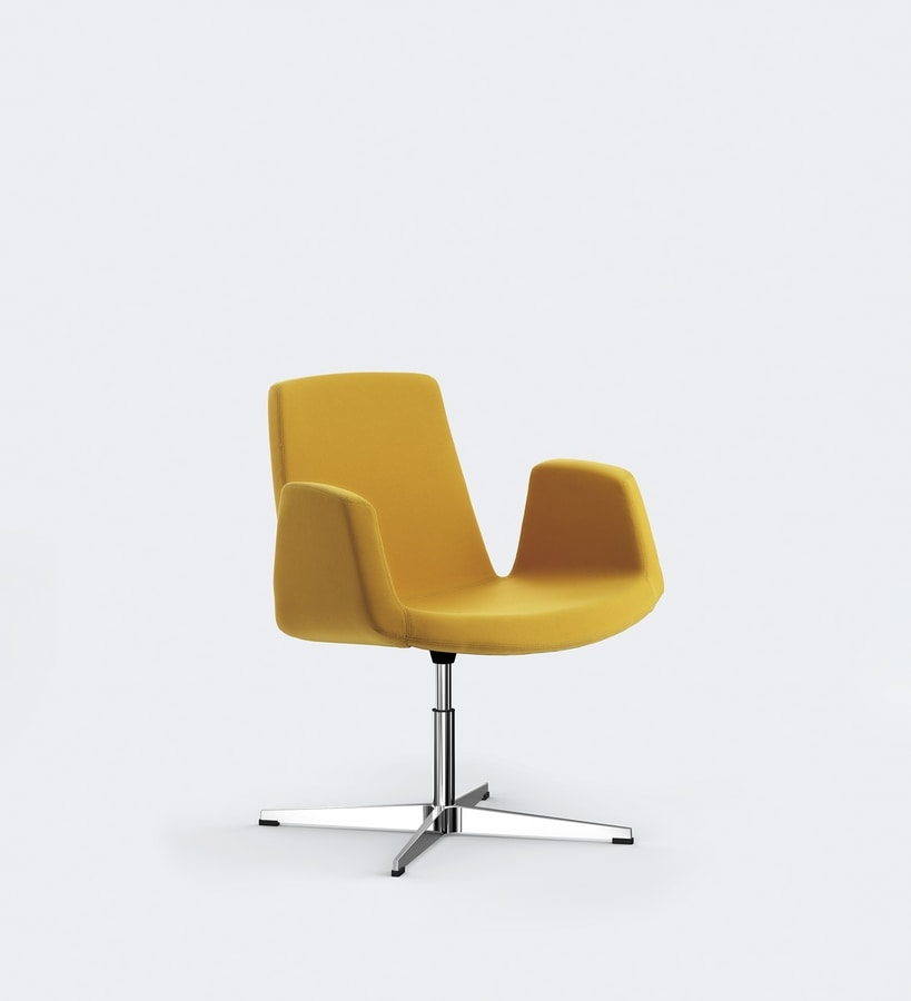 JOLLY, Metal chair, padded seat and backrest, for meeting rooms or conference