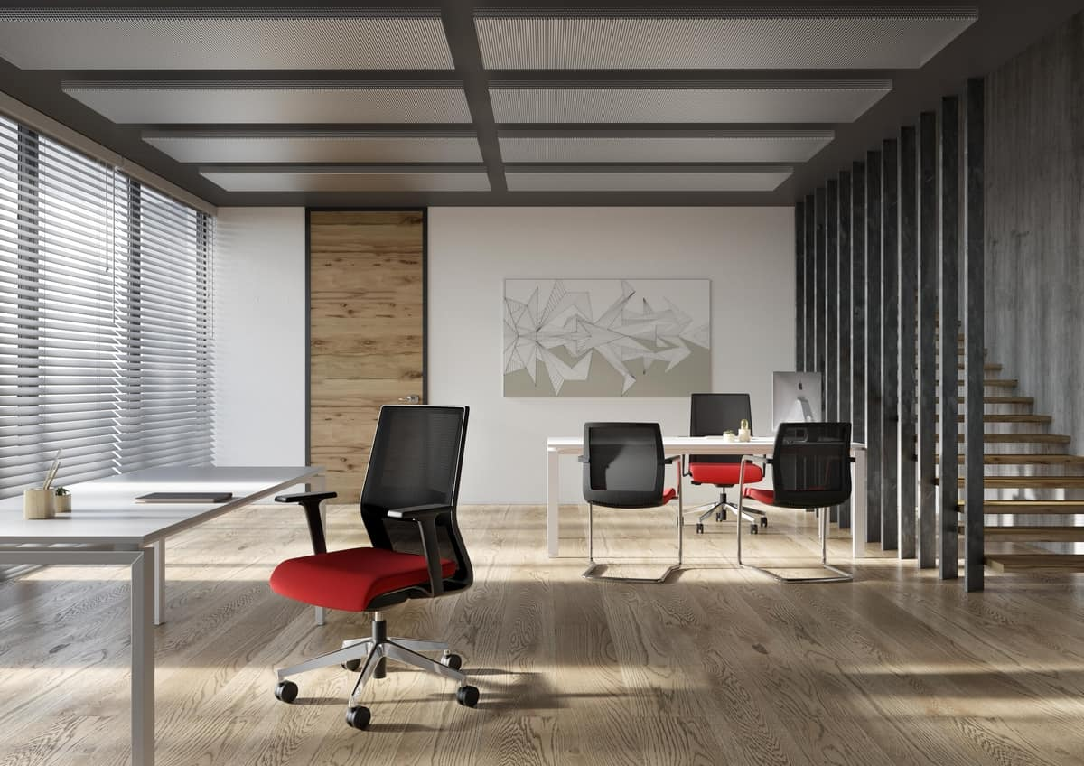 Karma, Office chair, with mesh or padded backrest