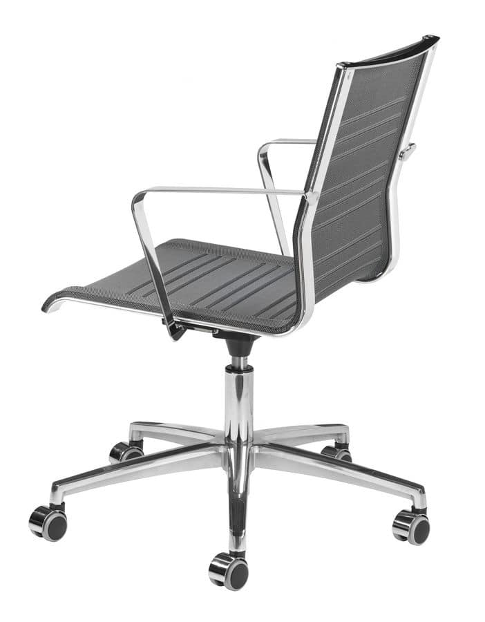 KEYPLUS 3150 + OPT, Chair with wheels, breathable shell, for office