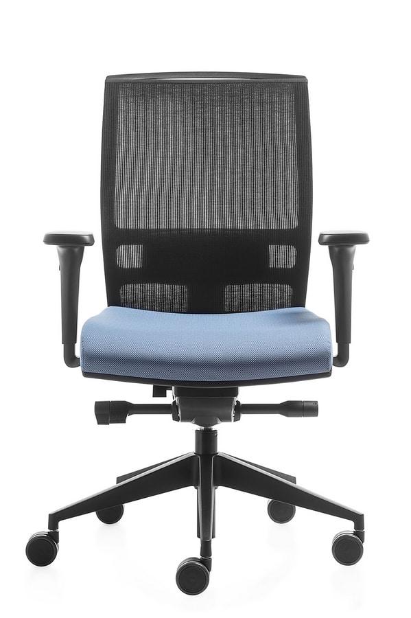 Konica, Task chair with mesh back, adjustable height