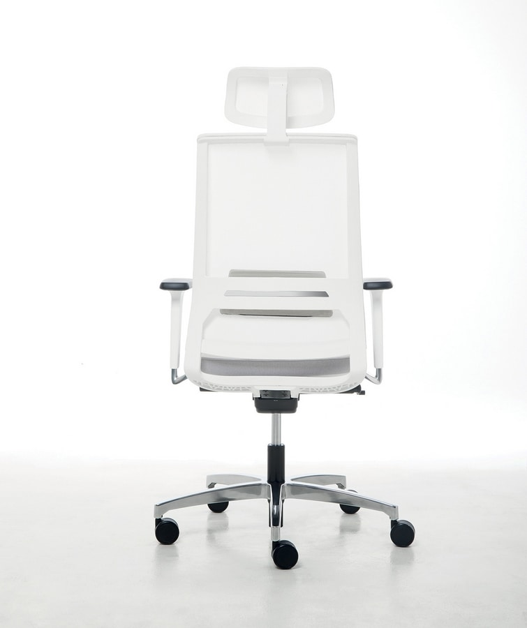 Logica White 01 PT, Task chair with white structure