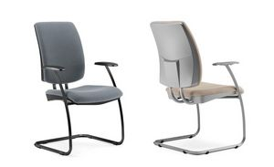 LUL� / LUL� SILVER, Chair for office with cantilever base