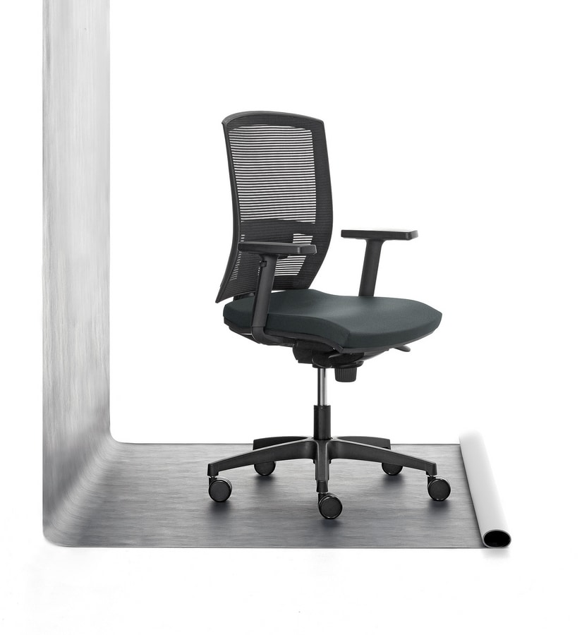 Mia 01, Task chair padded in polyurethane, for office