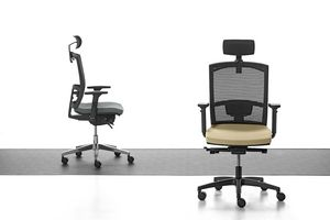 Mia 01 PT, Task chair with mesh backrest and headrest