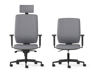 MIRAI, Swivel office armchair with high back