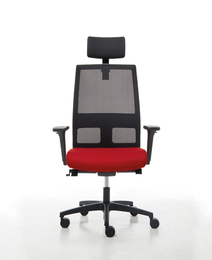 Omnia 01 PT, Office operative chair with headrest