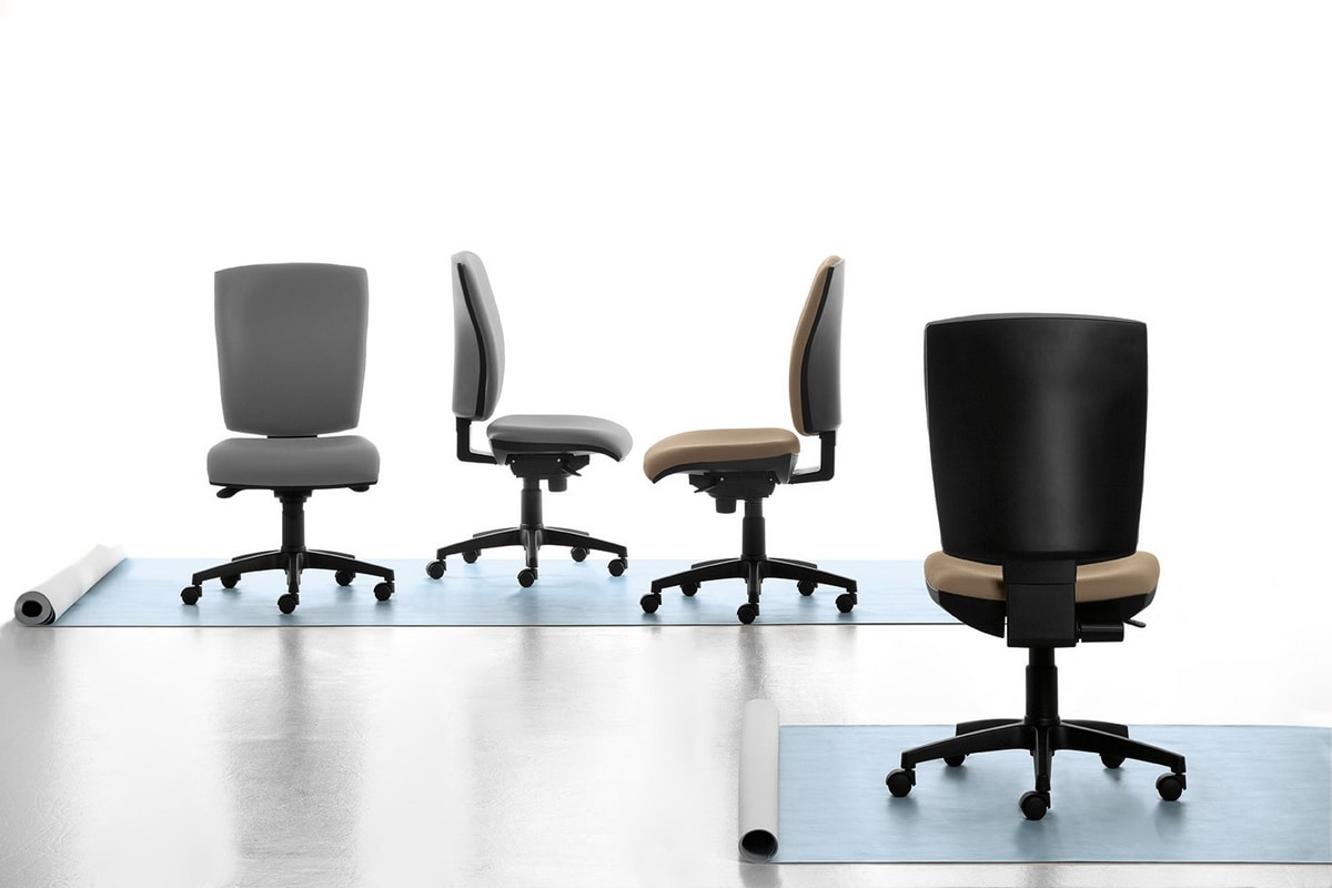 Pole 01 SY, Task chair with armrests and wheels for office