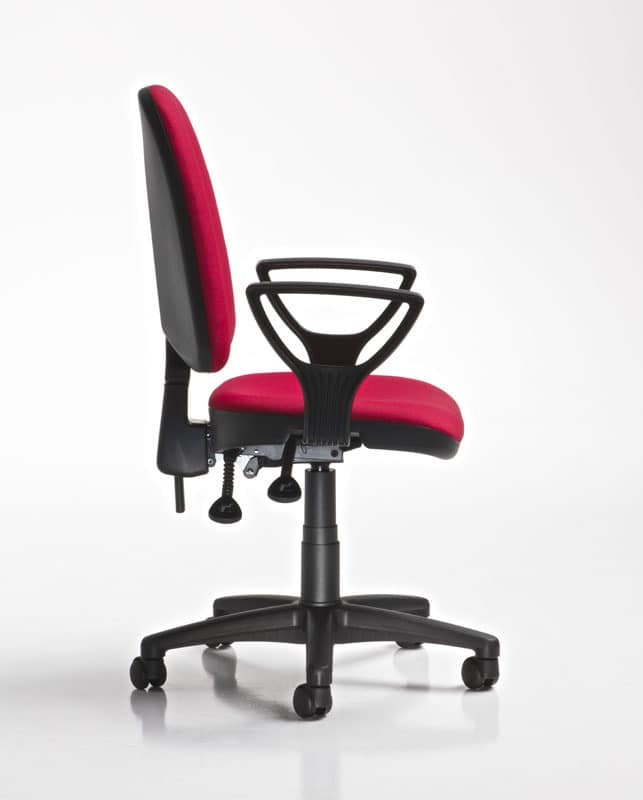 Ring, Chair with wheels and armrests, gas lift