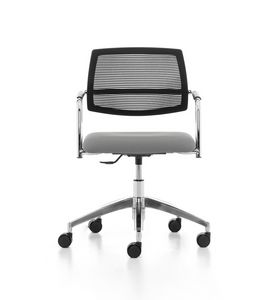 Samba AIR 03, Task chair with wheels, mesh back, for office