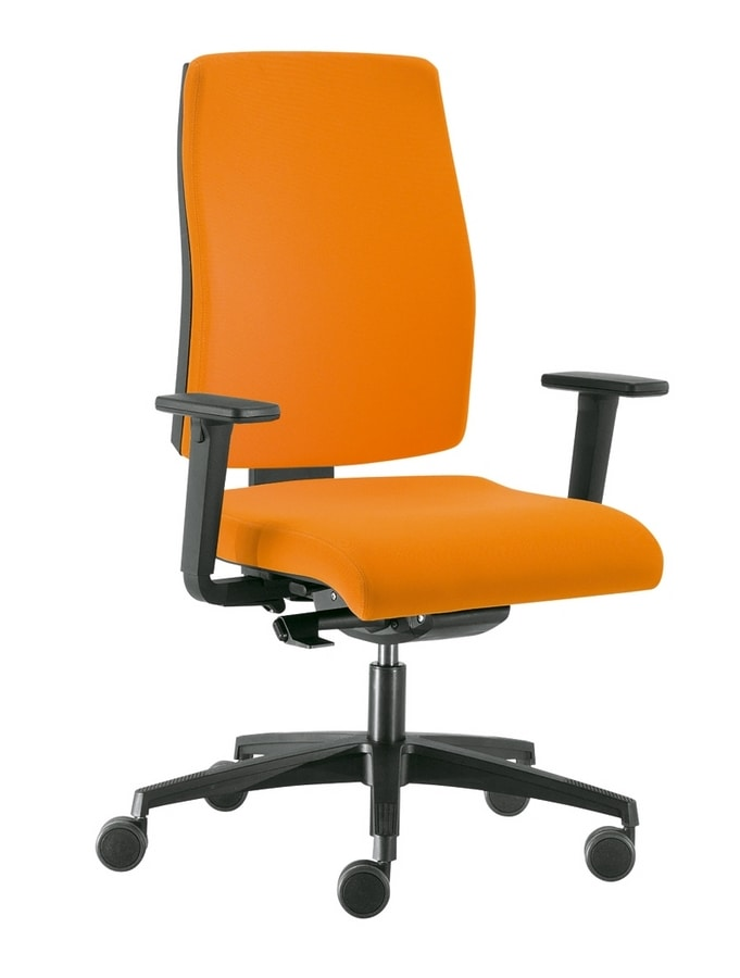 Sax 8, Office chair with adjustable lumbar band