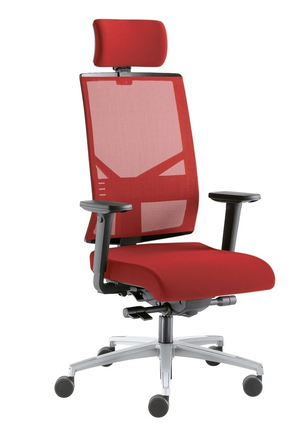 Sax Rete, Office chair with mesh backrest