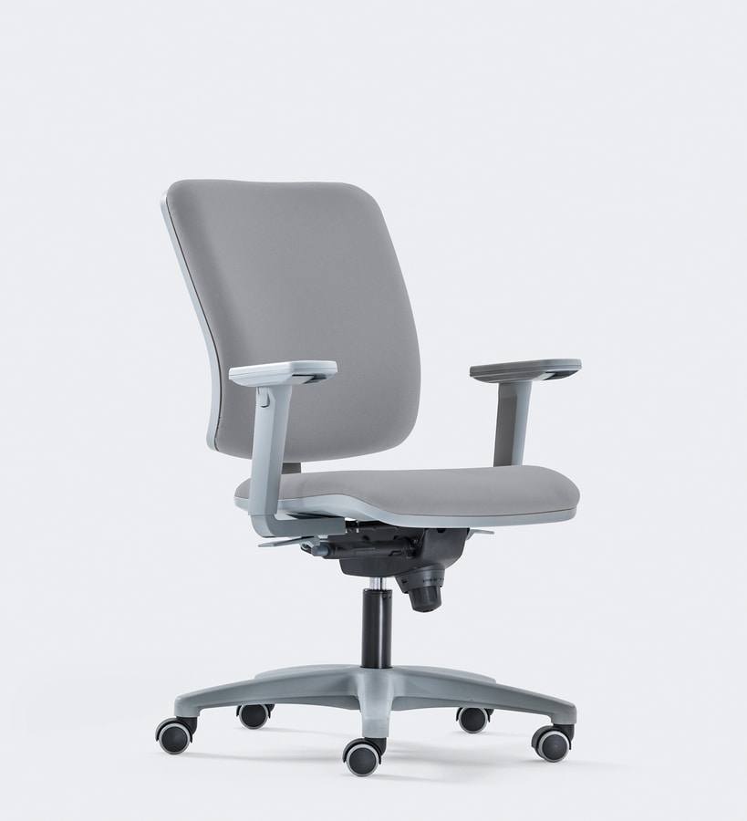 SMART, Task chair for office, contemporary design, padded seat and backrest