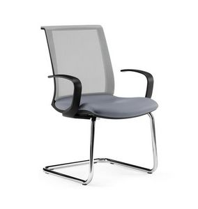 TECNA, Office visitor chair, with armrests, mesh back