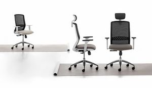 Tekna White 01 PT, Task office chair with white structure