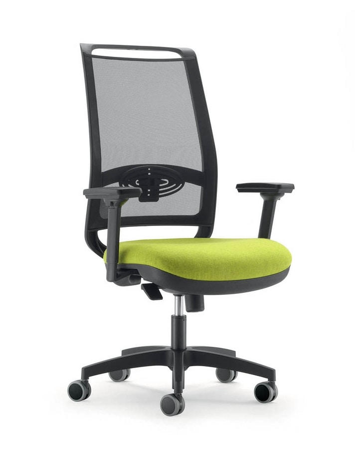 UF 328 / B, Office chair with mesh back