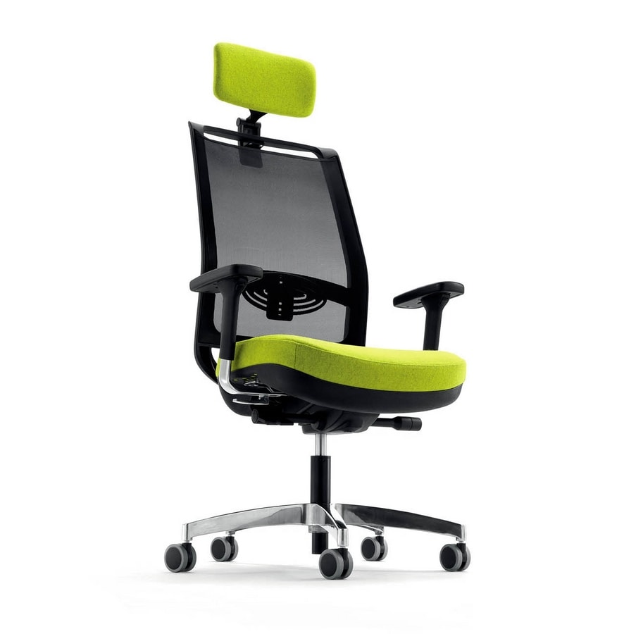 UF 329, Task chair for office, with headrest