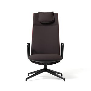 Velvet visitatore 4 razze, Upholstered office chair