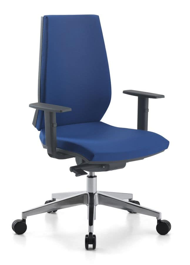 Venus 01, Task chair with aluminum base, for office