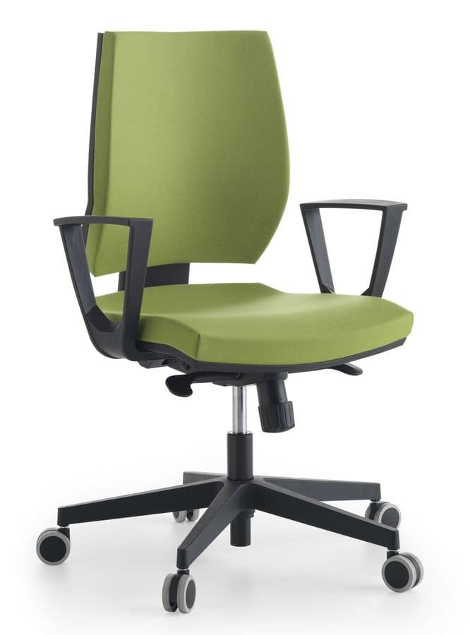 Venus 02, Task chair padded in polyurethane, for office