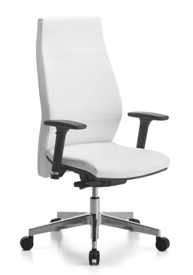 Venus Soft 01, Task chair, adjustable backrest, for office