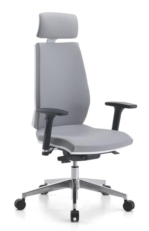 Venus WH 01 PT, Task chair with headrest, for office
