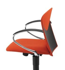 VULCAN 1310 Z, Padded task chair with chrome armrests, for office