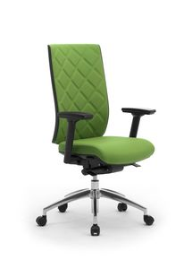 Wiki Tech, Swivel chair for office, with rhombus backrest