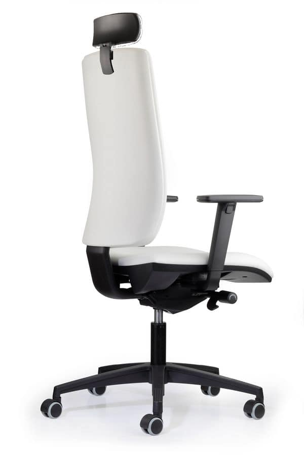 WIND 117, Task chair with castors, high back, for office