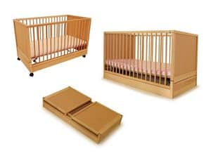 DURMI', Cot for children, sealable, for children's rooms