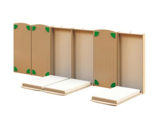 LE.SP.02, Wall bed for children, in birch plywood
