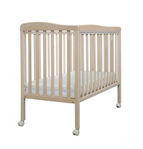 NANÌ, Wooden cradle, in minimal style, drop sides