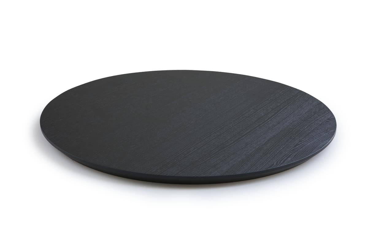 ART. 0098-5 AKY CONTRACT ROUND, Round top for design coffee table with beveled edge