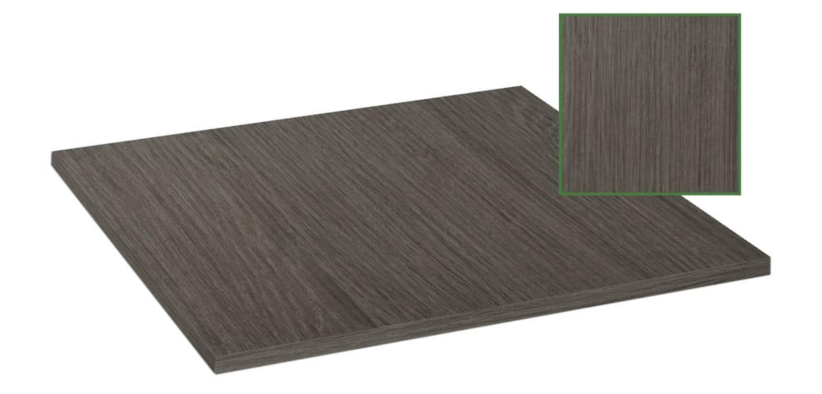 Table top in melamine gray shadow, Table top in melamine gray shadow