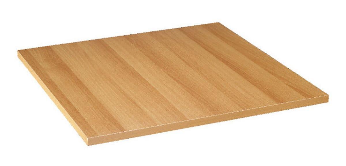 Table top in melamine light walnut cherry, Table top in melamine light walnut cherry