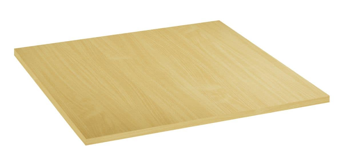 Table top in melamine natural beech, Table top in melamine natural beech